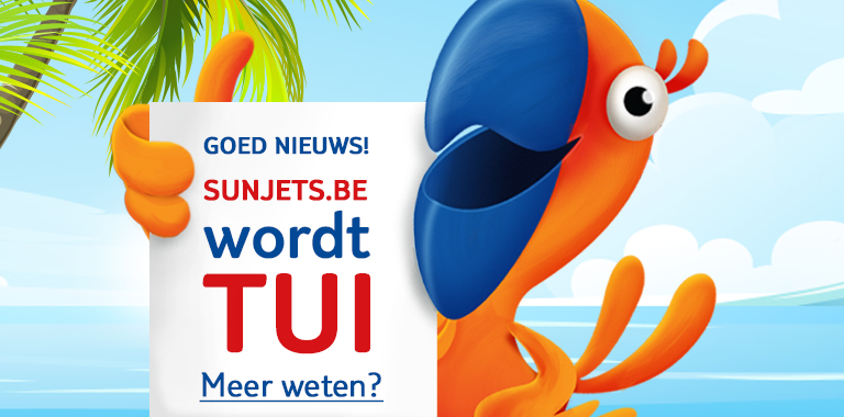 sunjets.be wordt tui